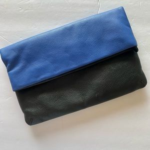Brighton Blue and Black Leather Bag/Clutch
